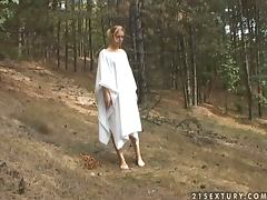 Forest stories with a kinky blondie Cherie tube porn video