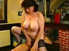 Mature, Bar, German, Mature, Mature Big Tits, German Big Tits