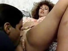 Retro style double penetration with a sexy curly haired siren porn tube video