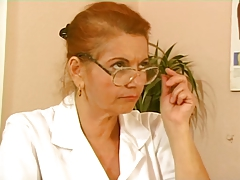 German Busty Granny Doctor tube porn video