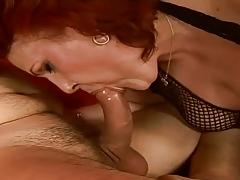 Busty Redhead Hairy Granny tube porn video