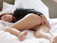 Babe, Babe, Brunette, Fingering, Masturbation, Redhead