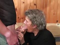 Filthy granny is enjoy some hard doggy style tube porn video