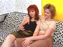 Young Lesbians And A Mature Woman tube porn video