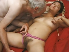 Aged, Aged, Asian, Bimbo, Brunette, Hairy