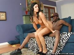 India Summer takes a BBC in her pussy after sucking it devotedly