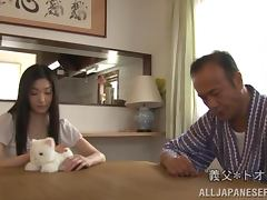 Lustful Japanese girl sucks a dick and gets fucked by her hubby