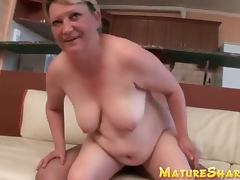 Fat granny has a fresh guy to fuck
