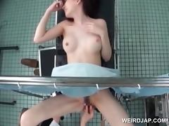 Asian cutie gets pussy vibed at the gynecologist
