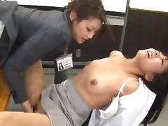 Bra, Bra, Fingering, Japanese, Office, Asian Lesbian
