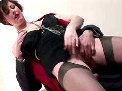 Sexy mature pussy in stockings tube porn video