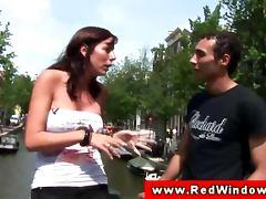 Blonde euro Amsterdam whore sucks client tube porn video