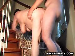 Chubby amateur wife toys and sucks and gets fucked tube porn video