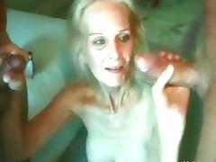 Blonde granny fucking