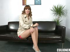 Charming chick Carol Vega rides a cock after sucking it hungrily