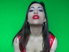 Red lipstick makeup fetish
