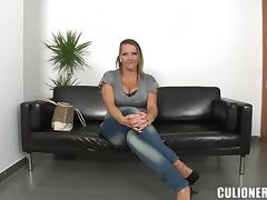 Laura seduces a stranger and fucks him in cowgirl position