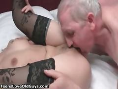 Hot blonde babe gets her wet pussy