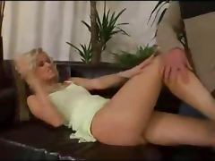 Pretty blonde fucking her sweet pussy
