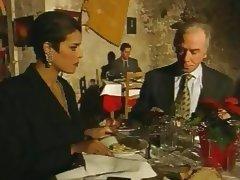 Elegant Italian Mature cheating husband on restaurant tube porn video