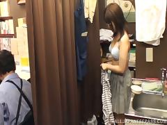 Kinky Japanese amateur girl gets fucked in a library tube porn video