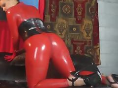 Catsuit, Catsuit, Corset, Softcore, Girdle, Red