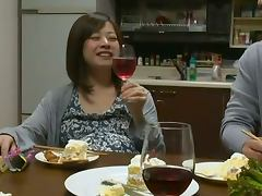 Riri Kohda the Japanesу housewife gets fucked after the dinner