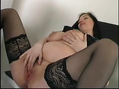 Admirable pregnant brunette gets fucked by an elderly dude porn tube video