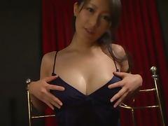 Miku Aoki the sexy girl from Japan sucks a dick in POV