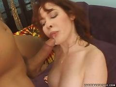 Mae Victoria gives a titjob and gets fucked in missionary position