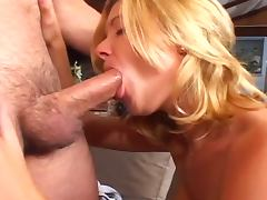 Two blondes slammed by two studs