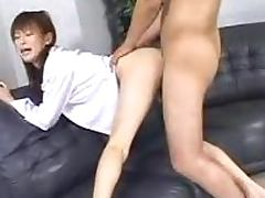 Asian hottie enjoys 69 and gets her snatch drilled doggy style