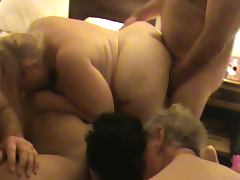 Mature BBW orgy 6 tube porn video