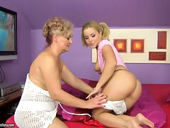 Dreams in white with a granny and horny babe