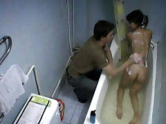 Bathroom, Bath, Bathroom, Brunette, HD, Russian