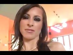 Horny slut fucking with several black cocks