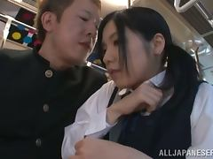 Bus, Asian, Big Tits, Blowjob, Bra, Bus