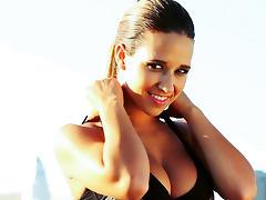 Busty brunette Carlye Denise is posing so sexy