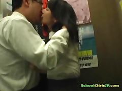 Schoolgirl Getting Her Tits Rubbed Pussy Fingered By Business Man In The Elevator