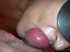 sucking cum filled balls