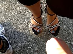 SHOEJOB CUMSHOT FEET AND SHOES tube porn video