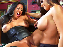 All, Brunette, Dildo, Leather, Lesbian, Lick