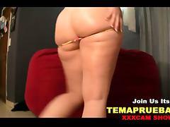 big ass on yellow thong dancing