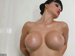 Sexy bombshell Aletta Ocean gets fucked after taking a shower