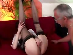Mature stockings babe rammed tube porn video