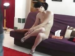 Hot czech babe changing backstage
