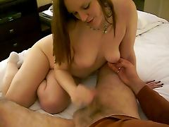 Hot woman jerk off a 82 year old man