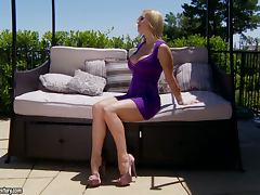 Sizzling Tanya Tate masturbates on the balcony porn tube video