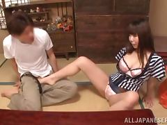 Japanese milf gets her tight cunt fucked remarcably well