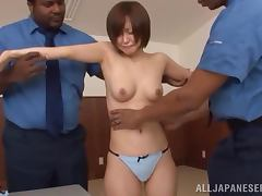 Office, Asian, Cop, Interracial, Japanese, MMF